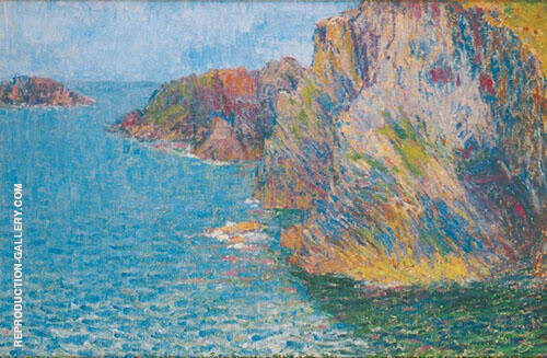 La Pointe de Morestil Calme Sea 1901 Painting By John Peter Russell