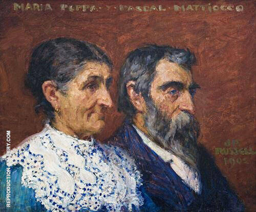 Les deux Mattiocco 1902 Painting By John Peter Russell