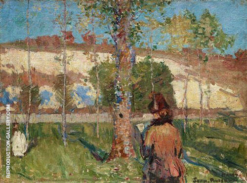 Madame Sisley on The Banks of The Login at Moet 1887 By John Peter Russell