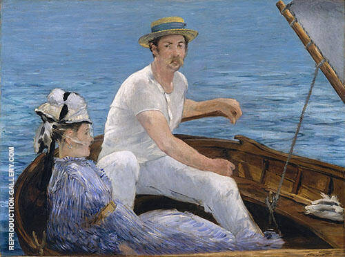 Boating 1874 Painting By Edouard Manet - Reproduction Gallery