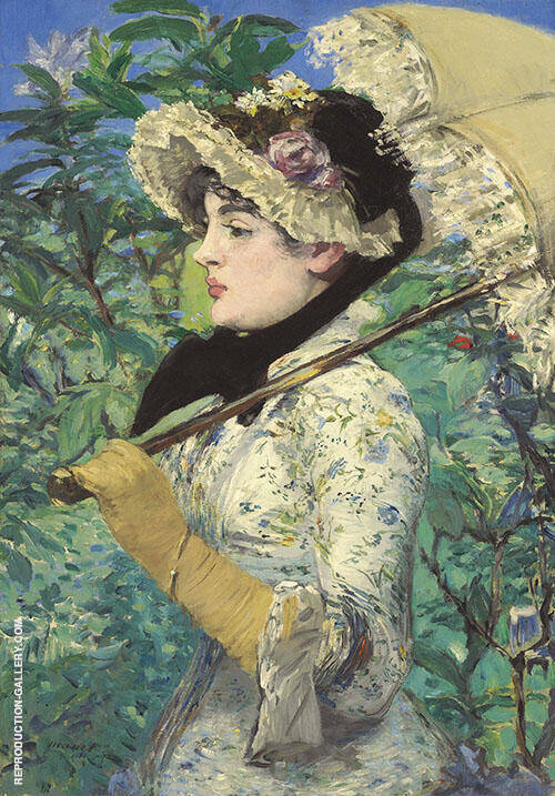 Spring Jeanne Demarsy 1881 By Edouard Manet