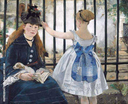 The Railway 1873 Painting By Edouard Manet - Reproduction Gallery