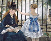 The Railway 1873 By Edouard Manet