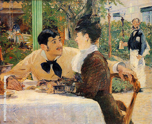 Chez le Pere Lathuille Painting By Edouard Manet - Reproduction Gallery