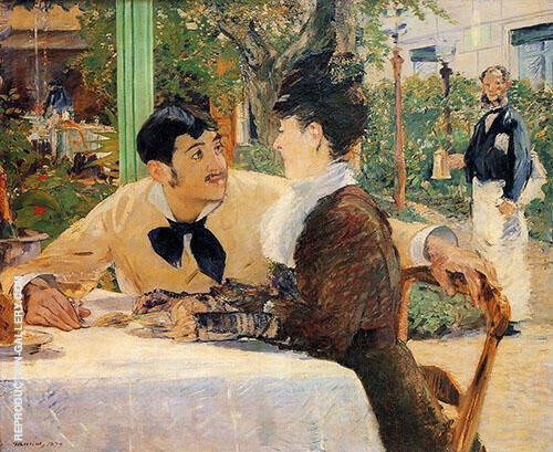 Chez le Pere Lathuille By Edouard Manet