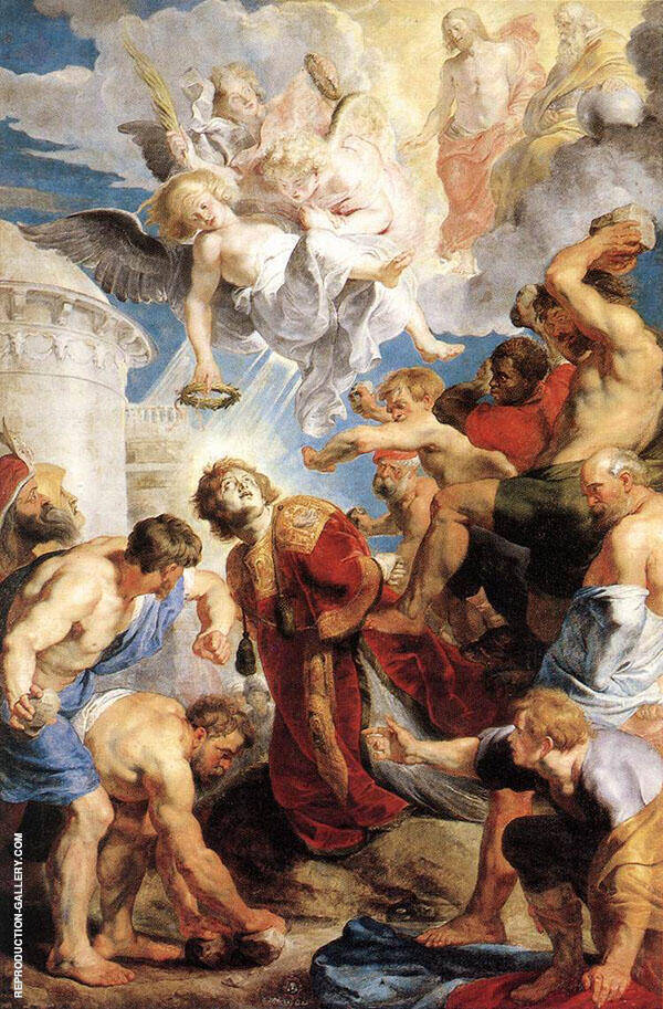 The Martyrdom of St Stephen c1616 Painting By Peter Paul Rubens
