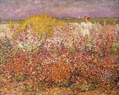 Mrs Russell Among The Flowers in The Garden of Goulphar 1907 By John Peter Russell
