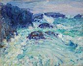 Rough Sea Morestil c1900 By John Peter Russell