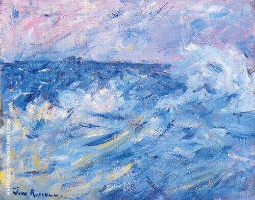 Stormy Sky and Sea Belle Ile off Brittany 1890 Painting By ...