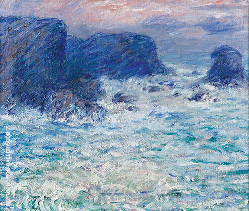 Stromy Sky Sea Belle ile off Brittany By John Peter Russell