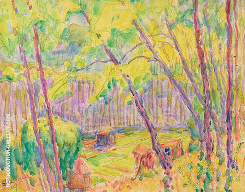 View Through Trees 1919 By John Peter Russell
