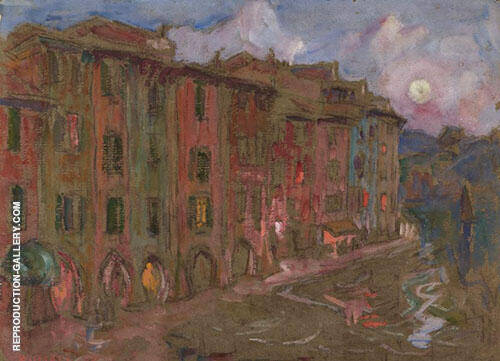 Waterfront Portofino 1921 By John Peter Russell