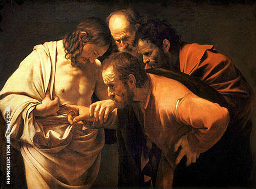 The Incredulity of St. Thomas 1602 - Doubting Thomas By Caravaggio