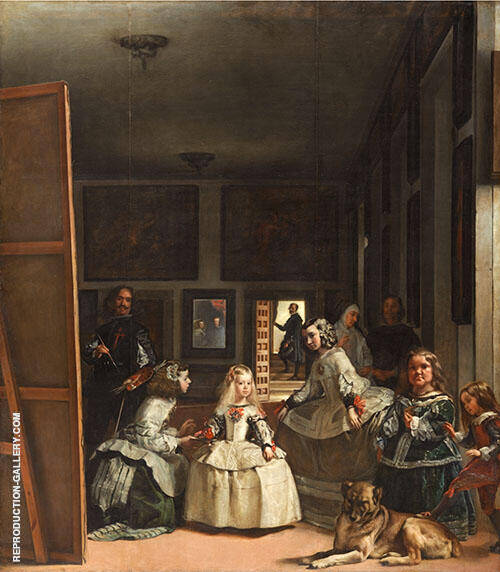 Las Meninas 1656 Painting By Diego Velazquez - Reproduction Gallery