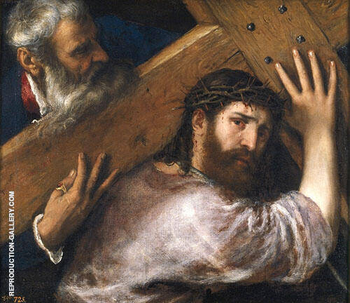 Christ Carrying The Cross By Tiziano Vecellio (TITIAN)