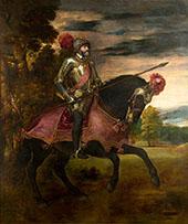 Equestrian Portrait of Charles V 1548 By Tiziano Vecellio (TITIAN)