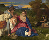 Madonna of The Rabbit c1530 By Tiziano Vecellio (TITIAN)