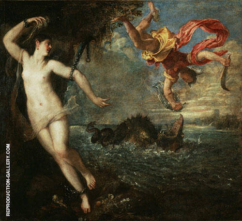 Perseus and Andromeda 1554 By Tiziano Vecellio (TITIAN)