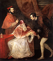 Pope Paul III and His Grandsons 1546 By Tiziano Vecellio (TITIAN)