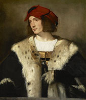 Portrait of a Man in a Red Cap 1510 By Tiziano Vecellio (TITIAN)