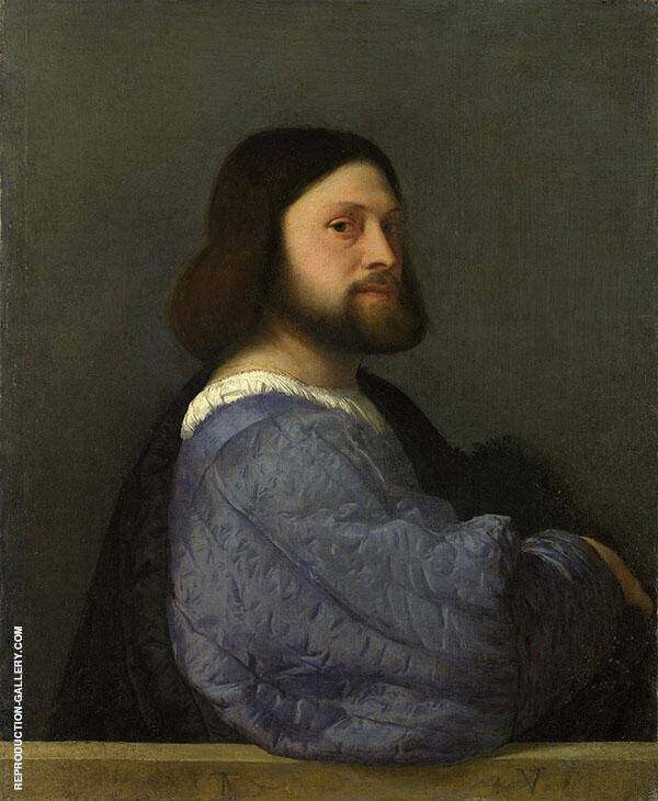 Portrait of a Man with a Quilted Sleeve 1509 By Tiziano Vecellio (TITIAN)