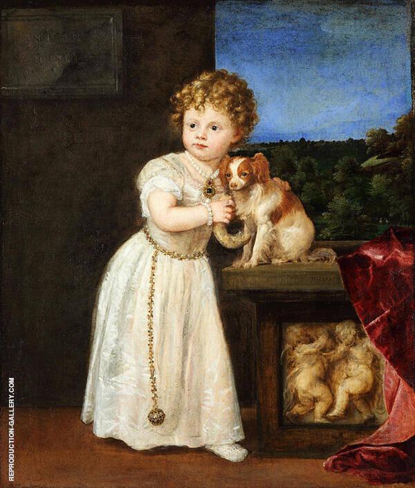 Portrait of Clarissa Strozzi 1542 By Tiziano Vecellio (TITIAN)