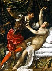 Tarquin and Lucretia 1571 By Tiziano Vecellio (TITIAN)
