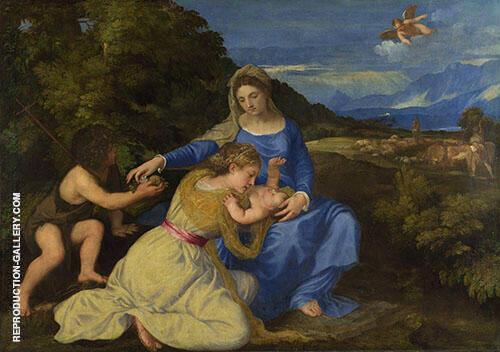 The Aldobrandini Madonna 1530 By Tiziano Vecellio (TITIAN)
