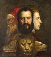 The Allegory of Age Governed by Prudence 1565 By Tiziano Vecellio (TITIAN)