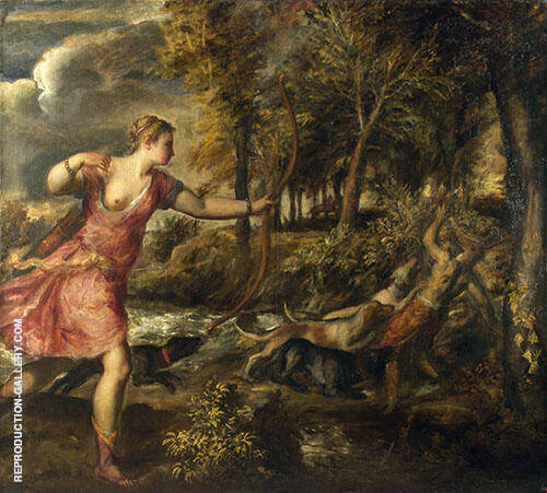 The Death of Actaeon 1559 By Tiziano Vecellio (TITIAN)
