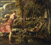 The Death of Actaeon 1559 By Tiziano Vecellio (TITIAN)