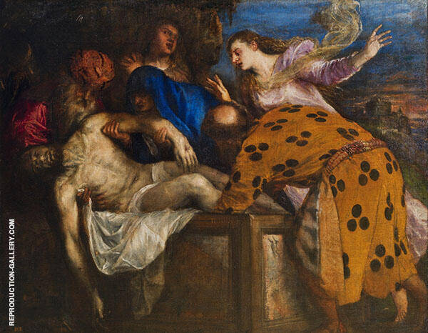 The Entombment 1572 By Tiziano Vecellio (TITIAN)