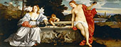 Vecelli Heavenly Love and Earthly Love By Tiziano Vecellio (TITIAN)