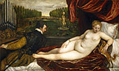 Venus with an Organist and a Dog 1550 By Tiziano Vecellio (TITIAN)