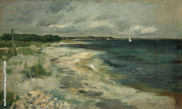 Storm Clouds 1880 by John Henry Twachtman | Oil Painting Reproduction Replica On Canvas - Reproduction Gallery