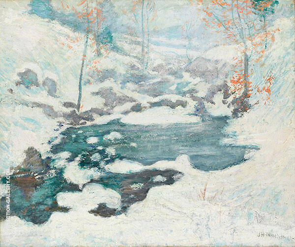 Icebound 1889 by John Henry Twachtman | Oil Painting Reproduction Replica On Canvas - Reproduction Gallery