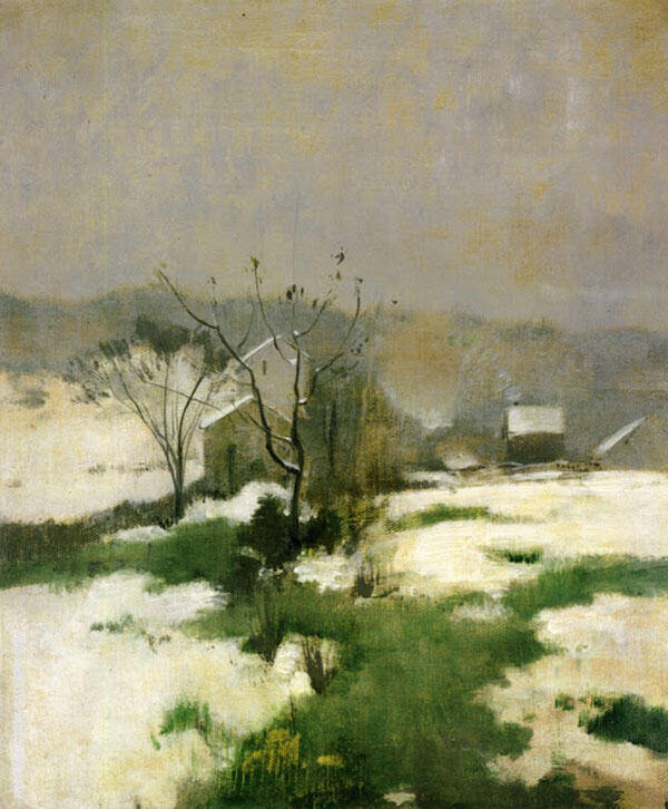 An Early Winter 1882 by John Henry Twachtman   Oil Painting Reproduction Replica On Canvas - Reproduction Gallery
