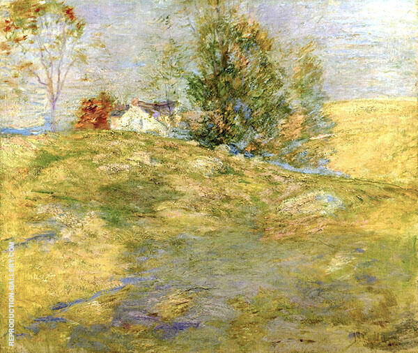 The Artist's Home in Autumn, Greenwich, Connecticut by John Henry Twachtman   Oil Painting Reproduction Replica On Canvas - Reproduction Gallery