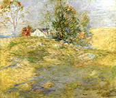 The Artist's Home in Autumn, Greenwich, Connecticut By John Henry Twachtman