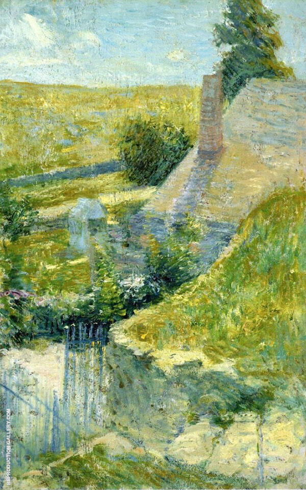 The Artist's Home Seen from the Back c1893 by John Henry Twachtman | Oil Painting Reproduction Replica On Canvas - Reproduction Gallery