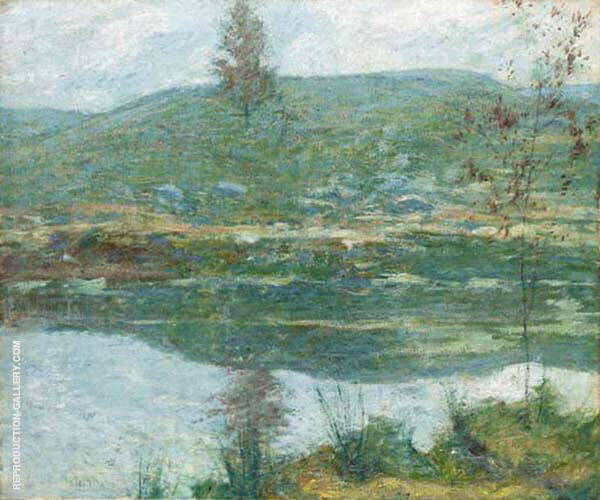 Autumn Mists by John Henry Twachtman | Oil Painting Reproduction Replica On Canvas - Reproduction Gallery