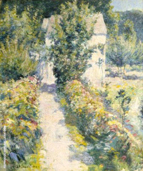 Azaleas 1899 by John Henry Twachtman   Oil Painting Reproduction Replica On Canvas - Reproduction Gallery