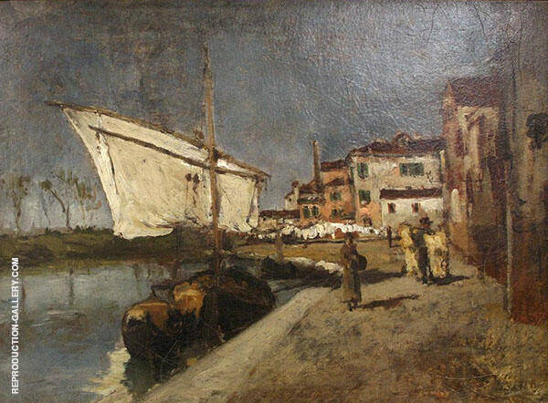 Campo Santa Marta 1878 by John Henry Twachtman | Oil Painting Reproduction Replica On Canvas - Reproduction Gallery