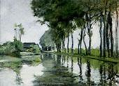 Canal Scene Holland 1881 By John Henry Twachtman