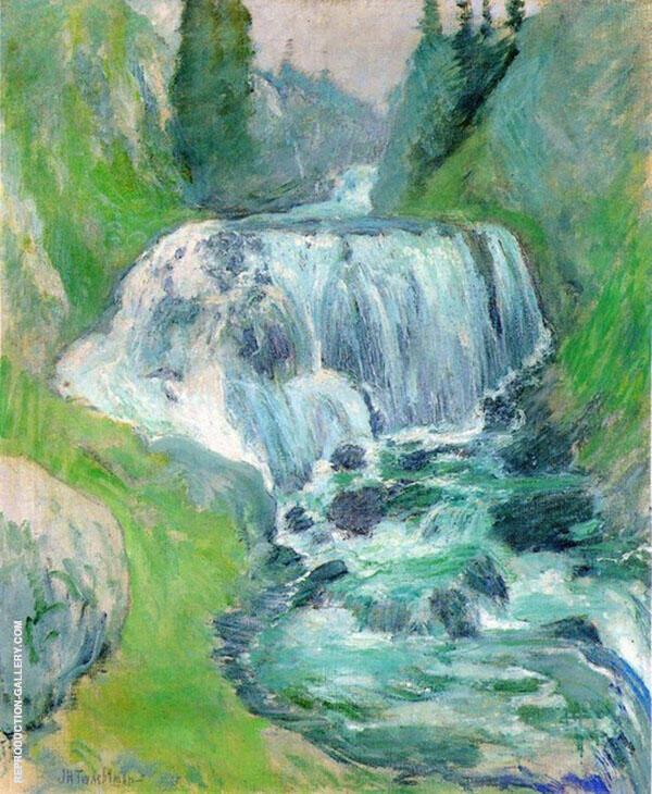 Cascades Waterfall By John Henry Twachtman