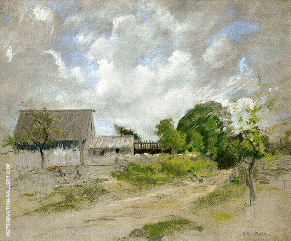 Cloudy Skies by John Henry Twachtman | Oil Painting Reproduction Replica On Canvas - Reproduction Gallery
