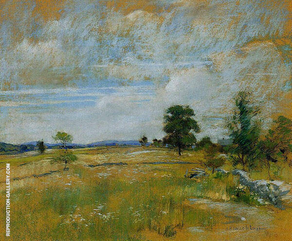 Connecticut Landscape 1891 by John Henry Twachtman | Oil Painting Reproduction Replica On Canvas - Reproduction Gallery
