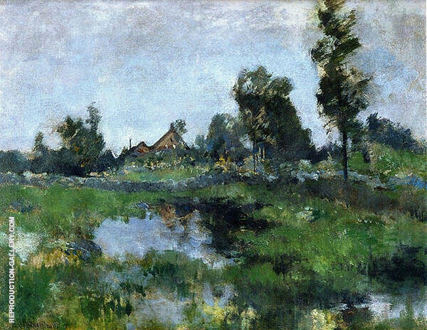 Connecticut Landscape 1895 by John Henry Twachtman | Oil Painting Reproduction Replica On Canvas - Reproduction Gallery