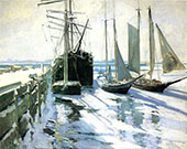 Connecticut Shore Winter 1889 By John Henry Twachtman
