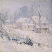 Country House in Winter Cos Cob 1891 By John Henry Twachtman
